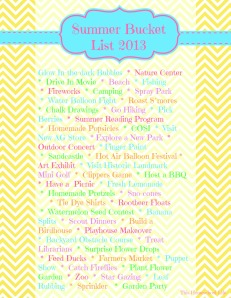2013 Summer Bucket List THL